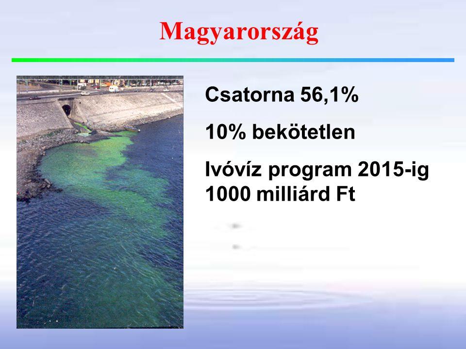 Magyarország Csatorna 56,1% 10% bekötetlen