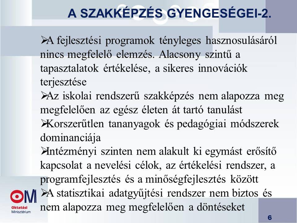 A SZAKKÉPZÉS GYENGESÉGEI-2.