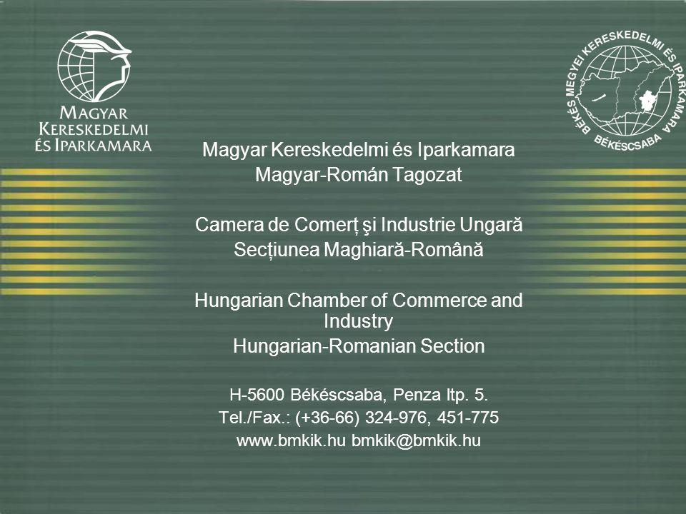 Magyar Kereskedelmi és Iparkamara Magyar-Román Tagozat