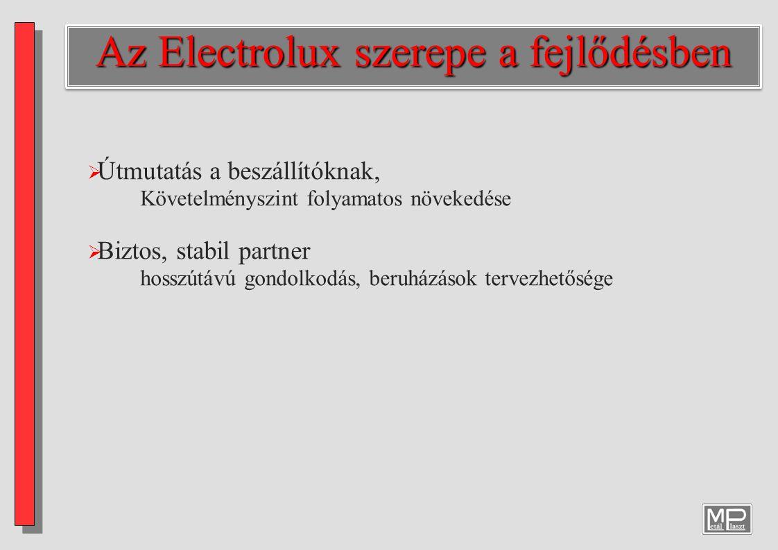 Az Electrolux szerepe a fejlődésben