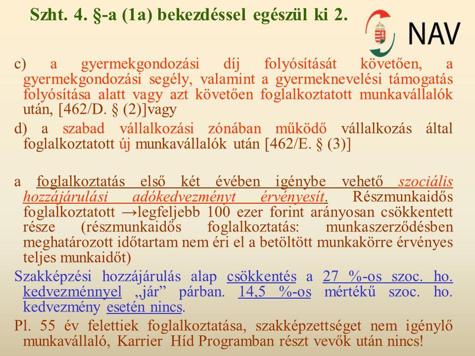 Szht. 4. §-a (1a) bekezdéssel egészül ki 2.