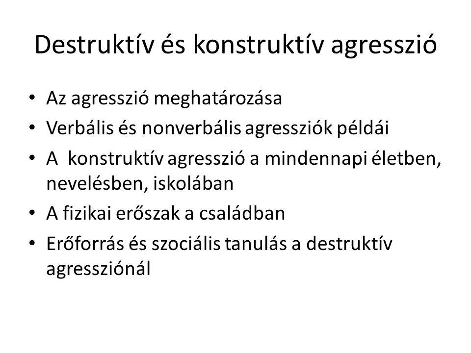 Destruktív és konstruktív agresszió