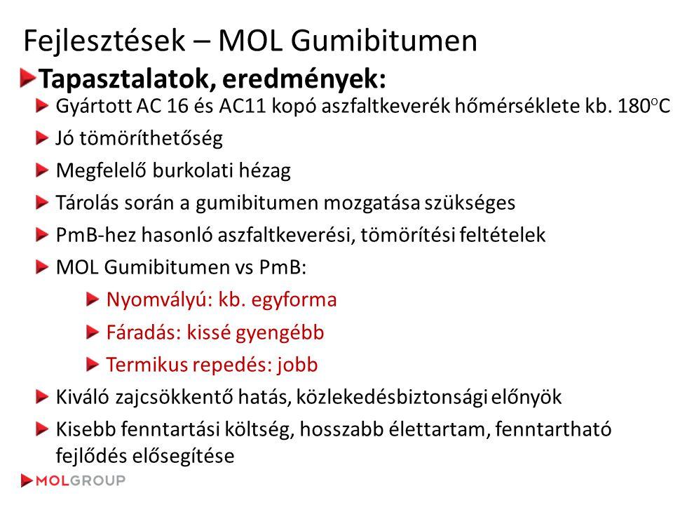 Fejlesztések – MOL Gumibitumen