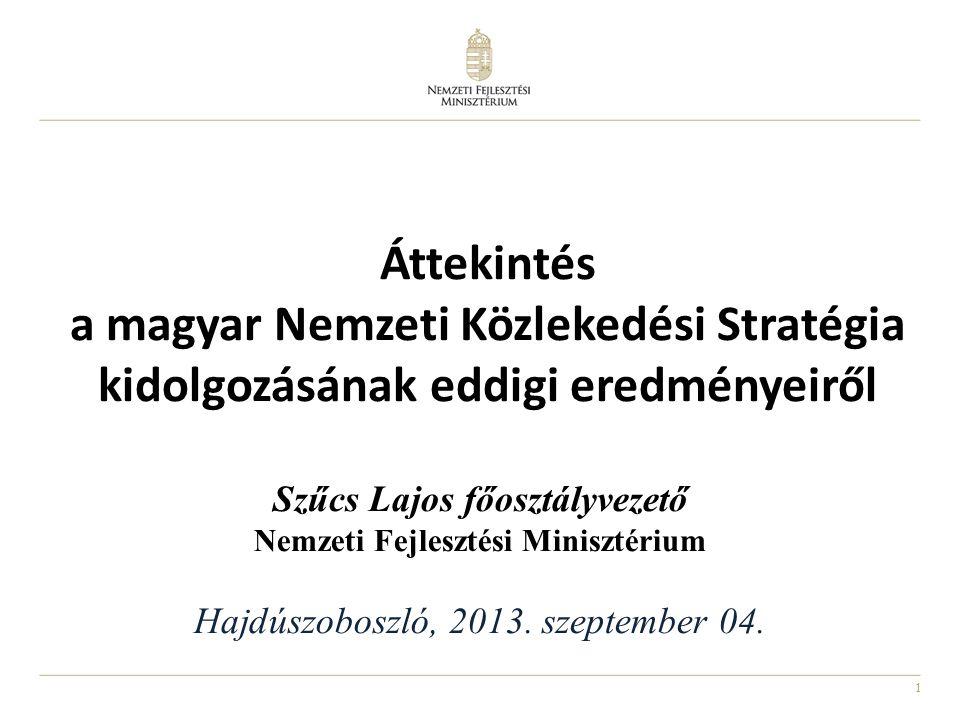 Áttekintés a magyar Nemzeti Közlekedési Stratégia kidolgozásának eddigi eredményeiről.