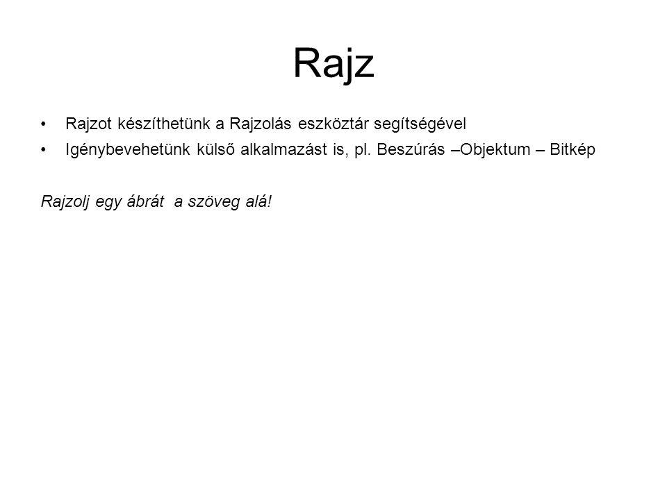 Rajz Rajzot készíthetünk a Rajzolás eszköztár segítségével