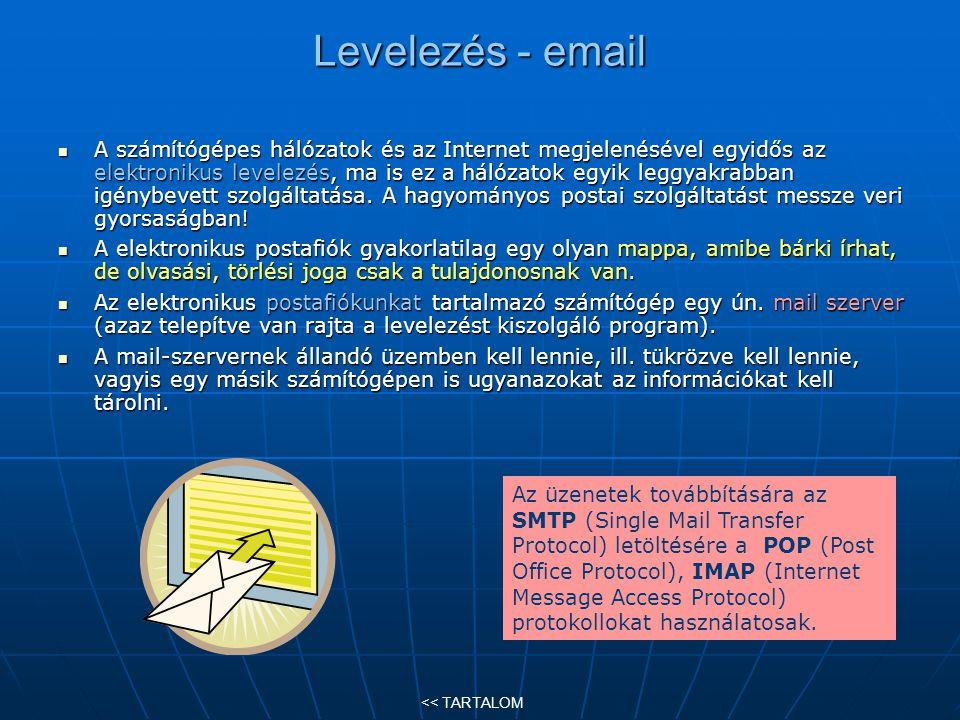 Levelezés - email