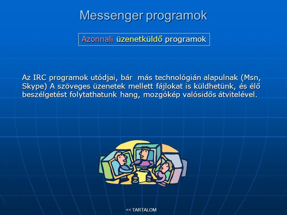 Azonnali üzenetküldő programok