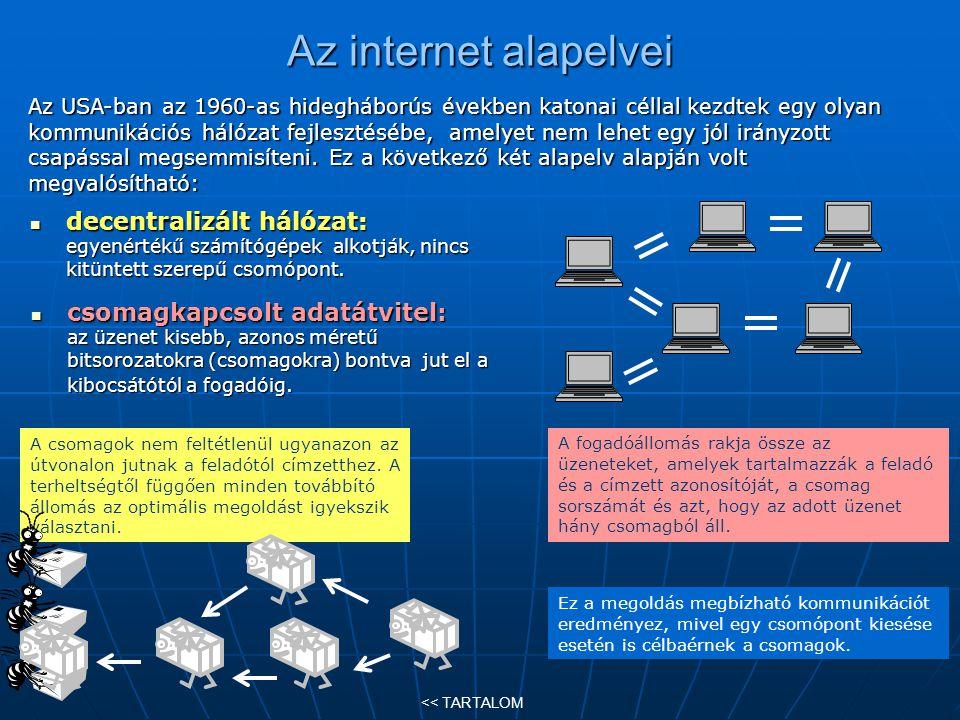 Az internet alapelvei