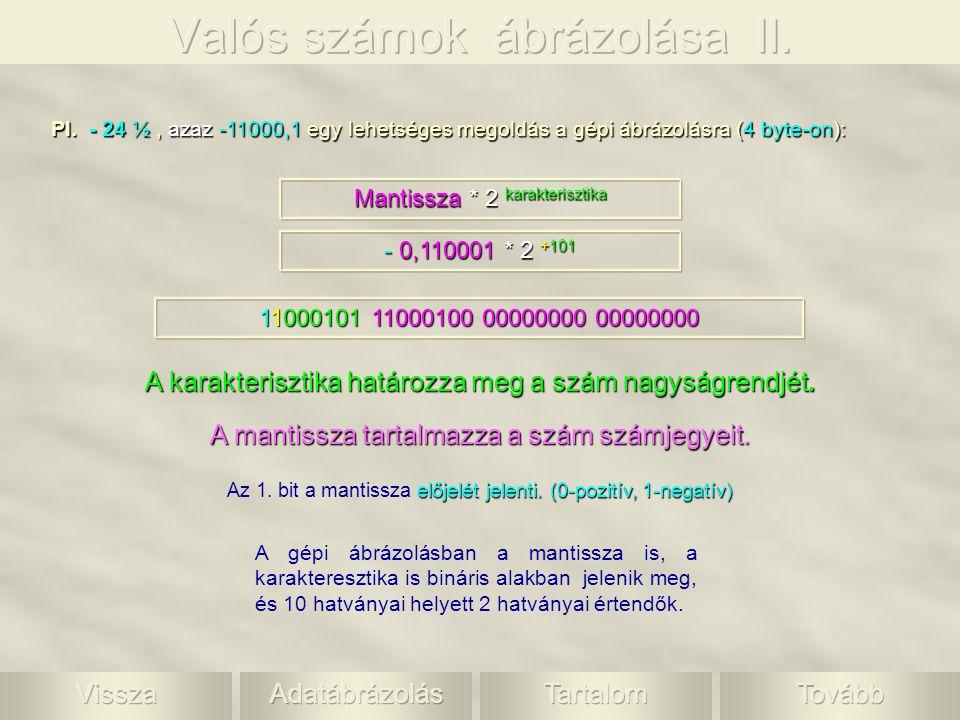 Valós számok ábrázolása II.