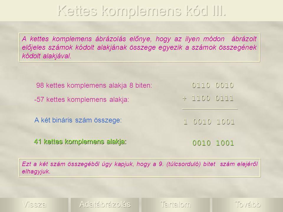 Kettes komplemens kód III.