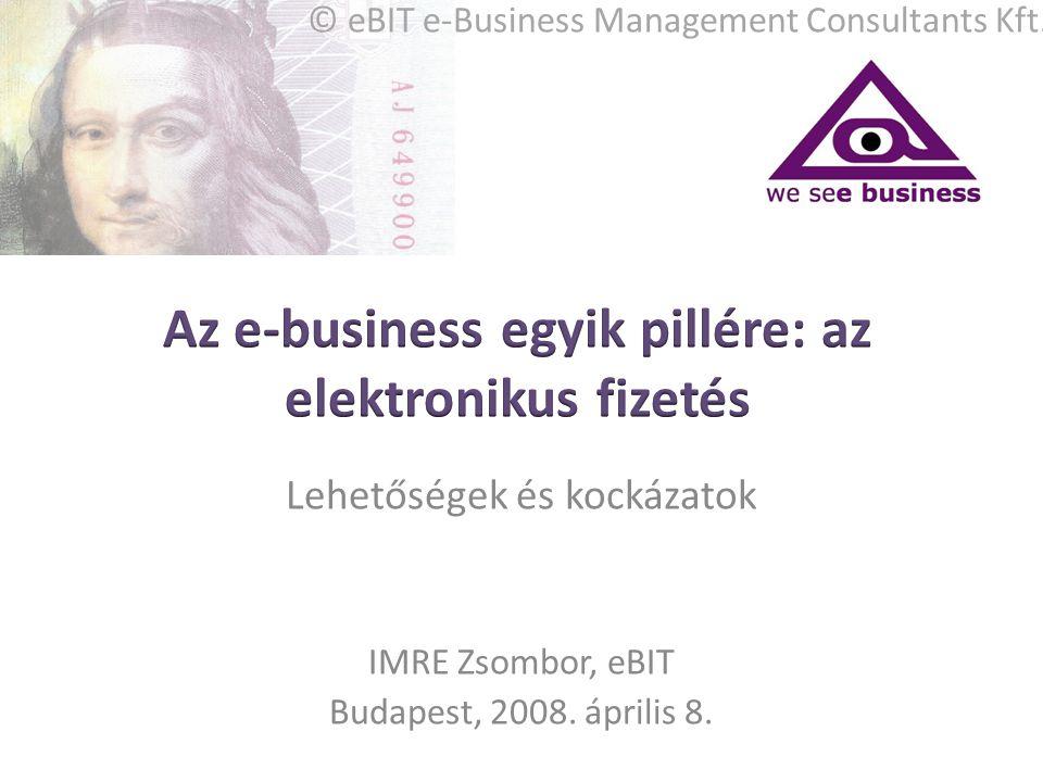 Az e-business egyik pillére: az elektronikus fizetés