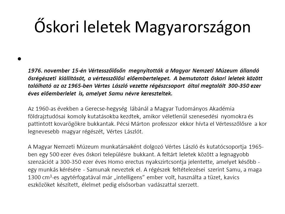 Őskori leletek Magyarországon