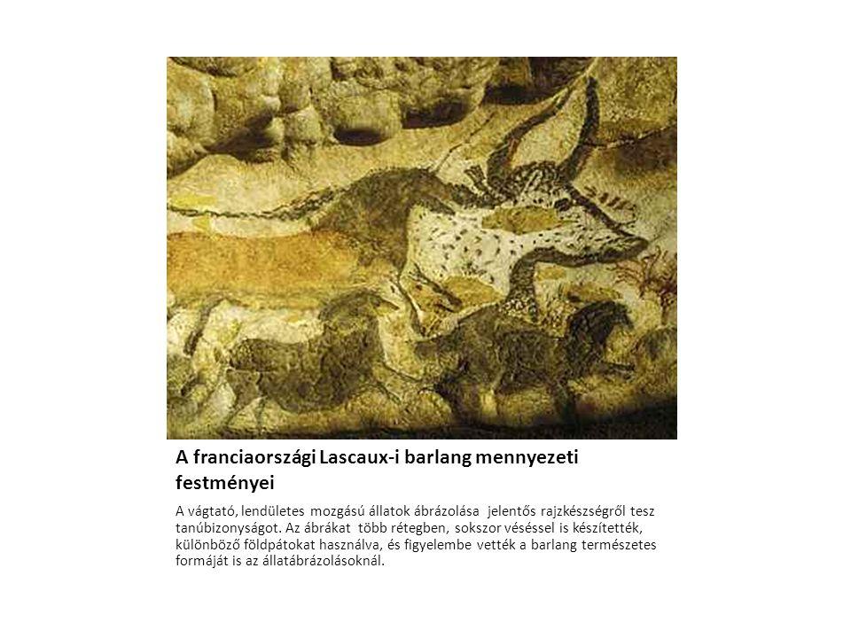 A franciaországi Lascaux-i barlang mennyezeti festményei