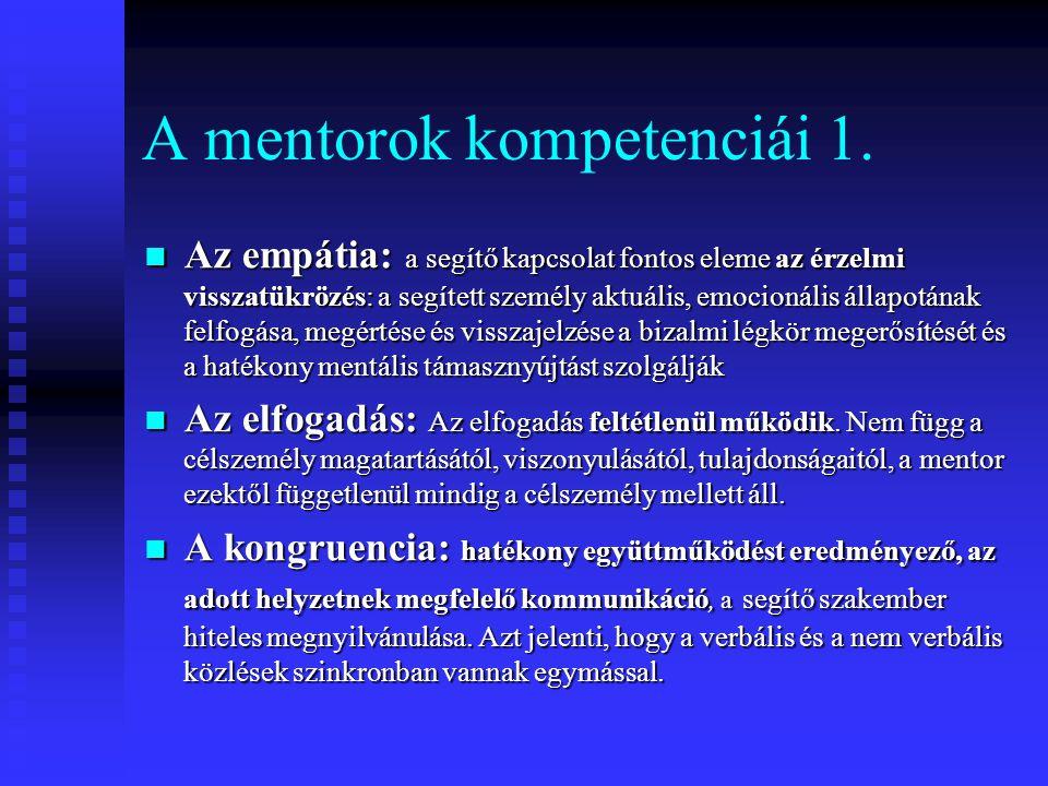 A mentorok kompetenciái 1.