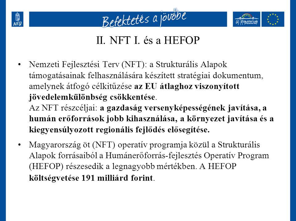 II. NFT I. és a HEFOP