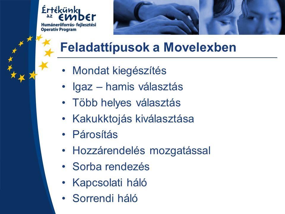 Feladattípusok a Movelexben