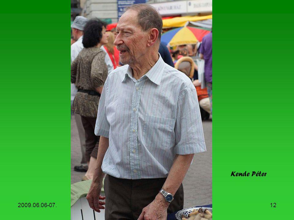 Kende Péter 2009.06.06-07. Könyvhét, 2009