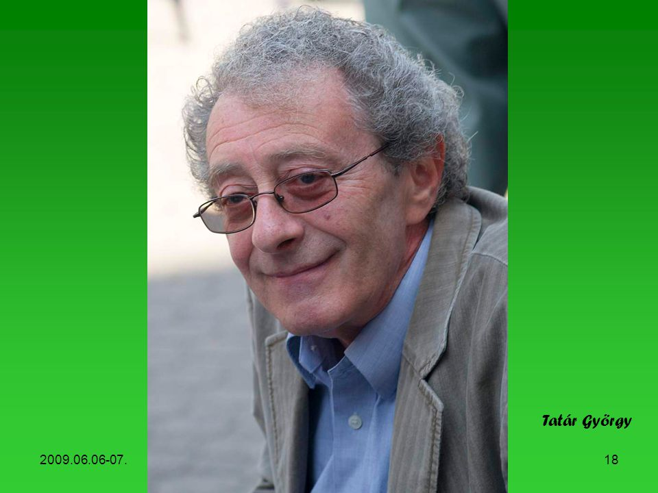 Tatár György 2009.06.06-07. Könyvhét, 2009