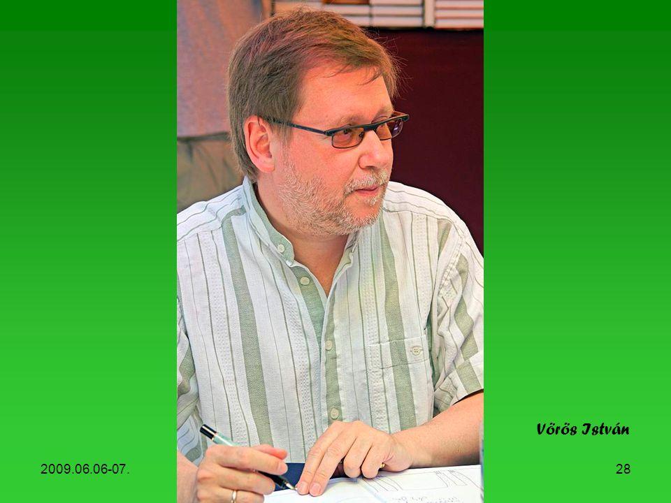 Vörös István 2009.06.06-07. Könyvhét, 2009