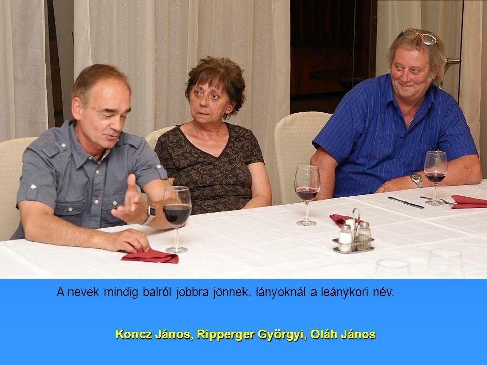 Koncz János, Ripperger Györgyi, Oláh János