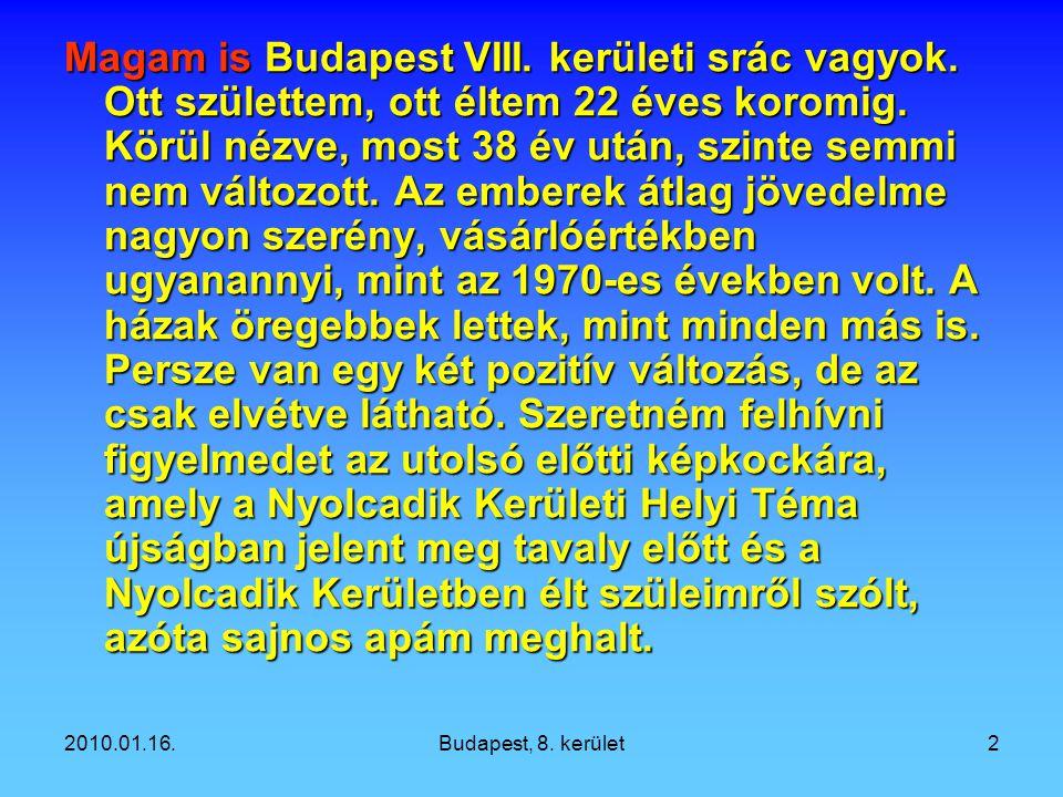 Magam is Budapest VIII. kerületi srác vagyok