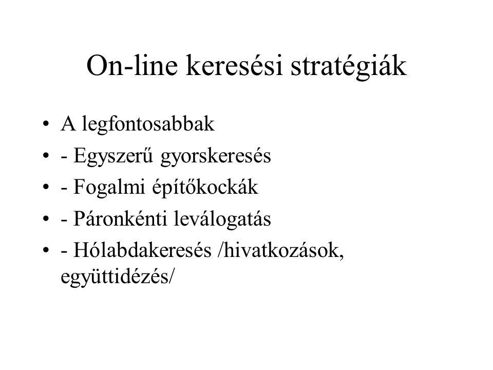 On-line keresési stratégiák