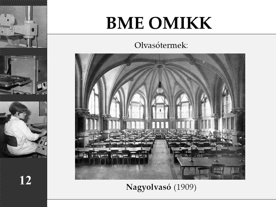 BME OMIKK Olvasótermek: Nagyolvasó (1909) 12