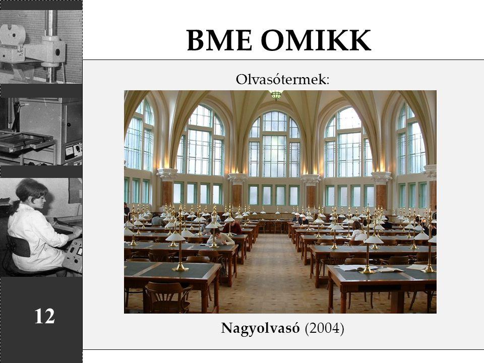 BME OMIKK Olvasótermek: Nagyolvasó (2004) 12