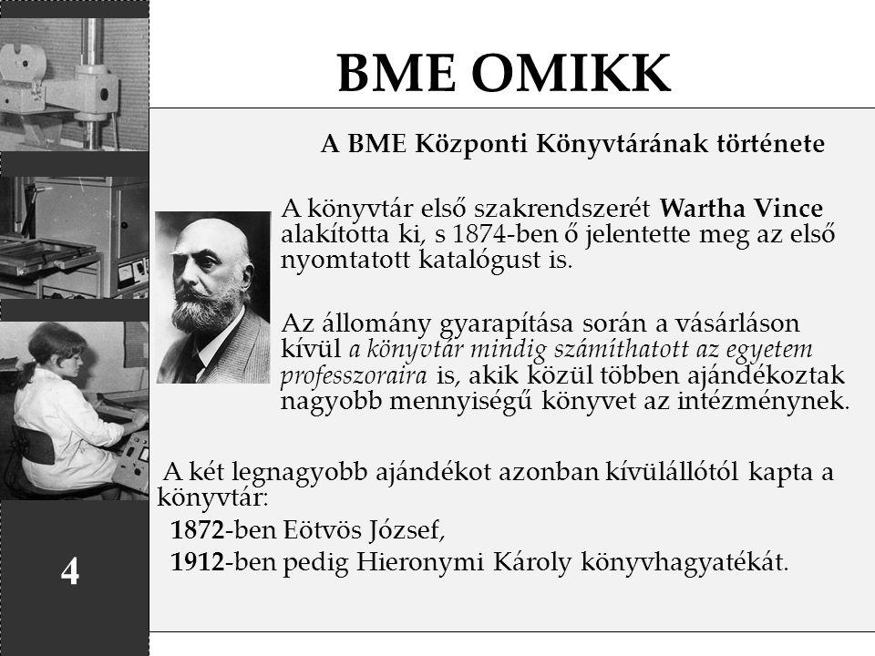A BME Központi Könyvtárának története