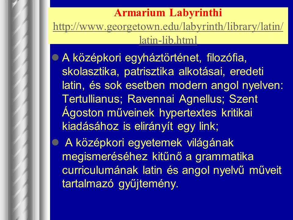 Armarium Labyrinthi http://www. georgetown