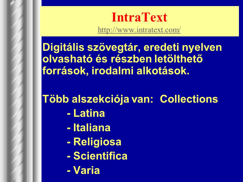 IntraText http://www.intratext.com/