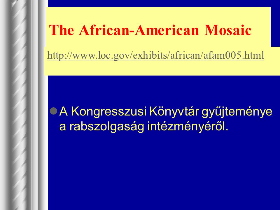 The African-American Mosaic