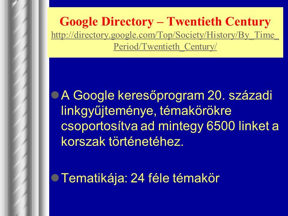 Google Directory – Twentieth Century http://directory. google