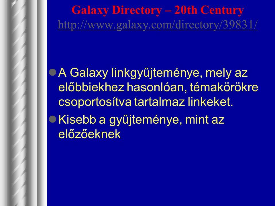 Galaxy Directory – 20th Century http://www.galaxy.com/directory/39831/