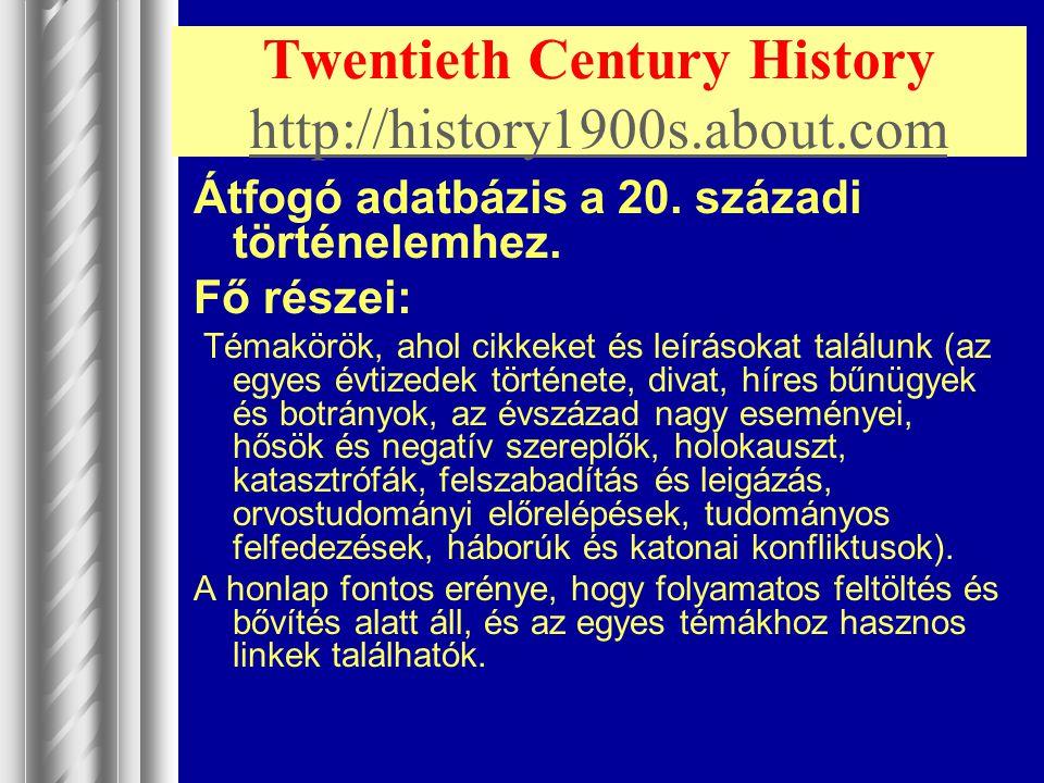 Twentieth Century History http://history1900s.about.com