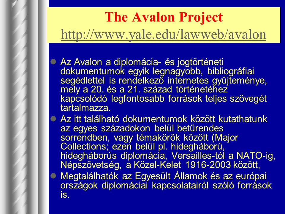 The Avalon Project http://www.yale.edu/lawweb/avalon