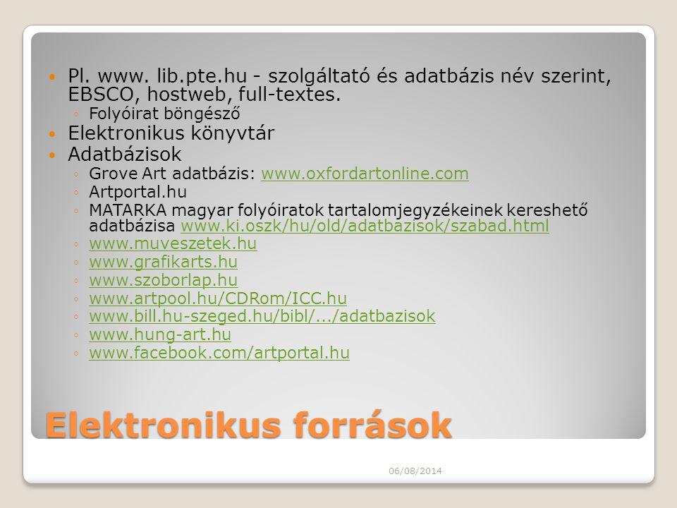 Elektronikus források
