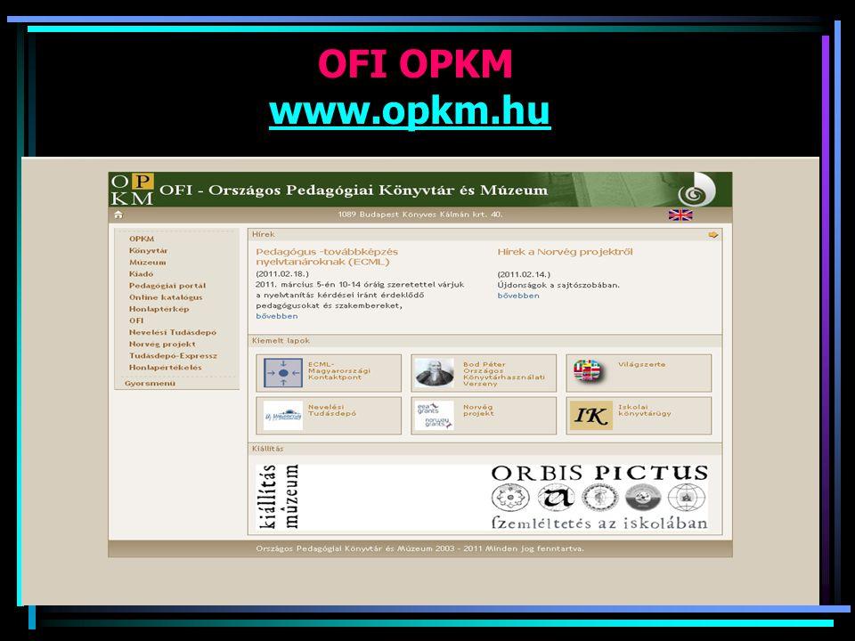 OFI OPKM www.opkm.hu
