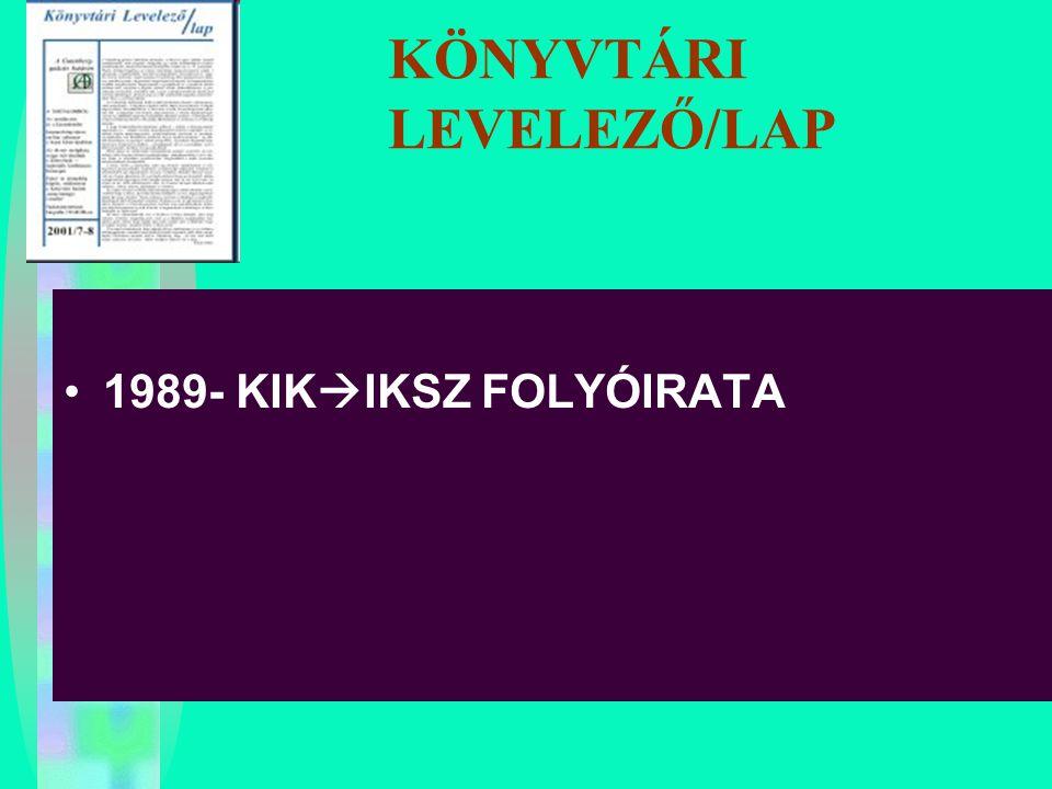 KÖNYVTÁRI LEVELEZŐ/LAP