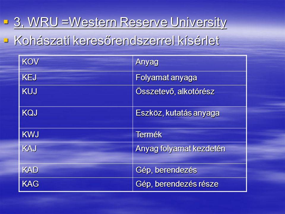 3, WRU =Western Reserve University