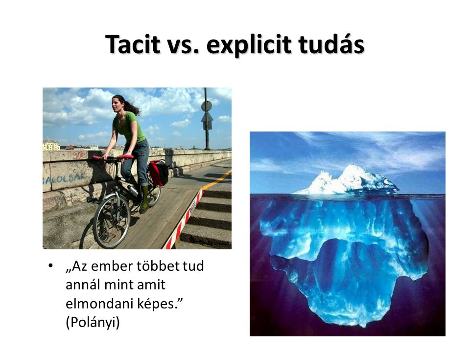 Tacit vs. explicit tudás