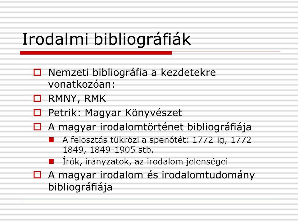 Irodalmi bibliográfiák