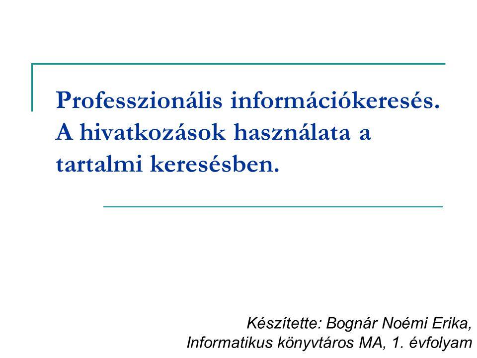 Professzionális információkeresés