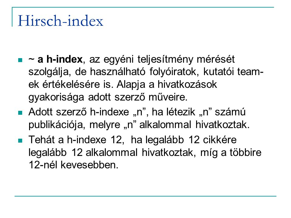 Hirsch-index