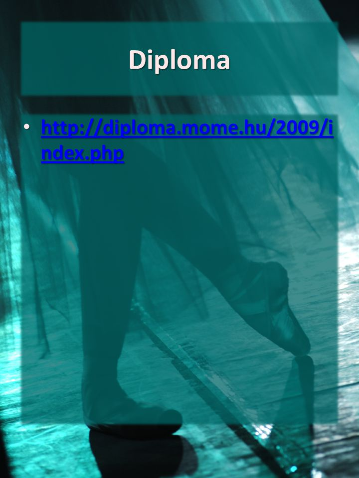 Diploma http://diploma.mome.hu/2009/index.php