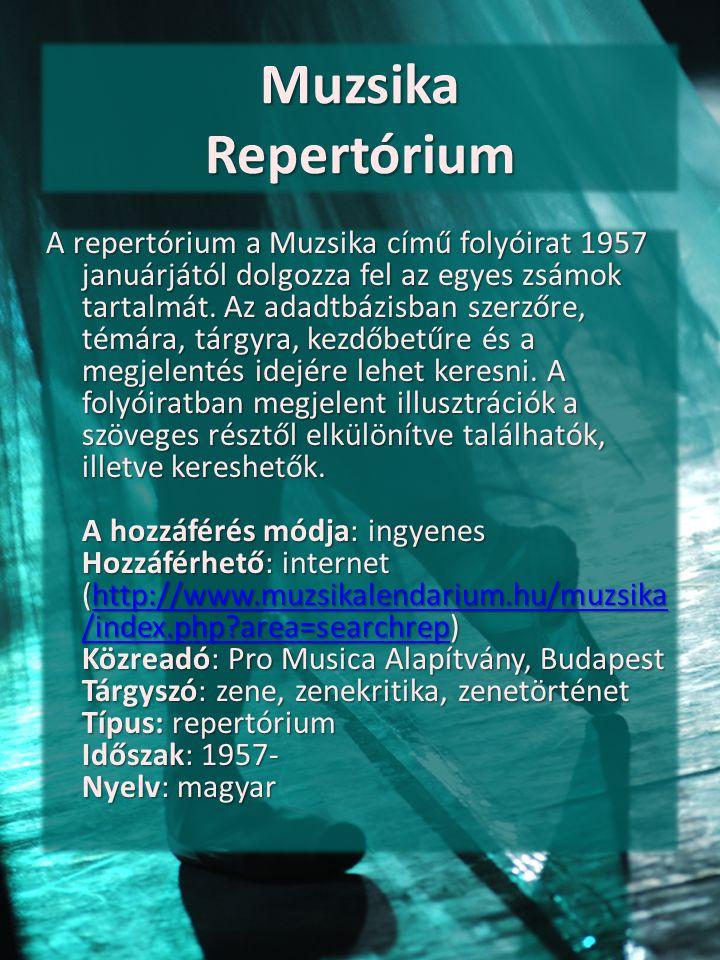Muzsika Repertórium