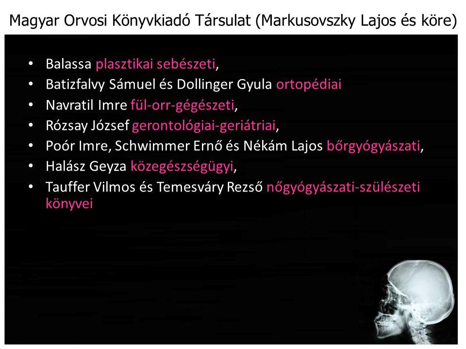 Magyar Orvosi Könyvkiadó Társulat (Markusovszky Lajos és köre)