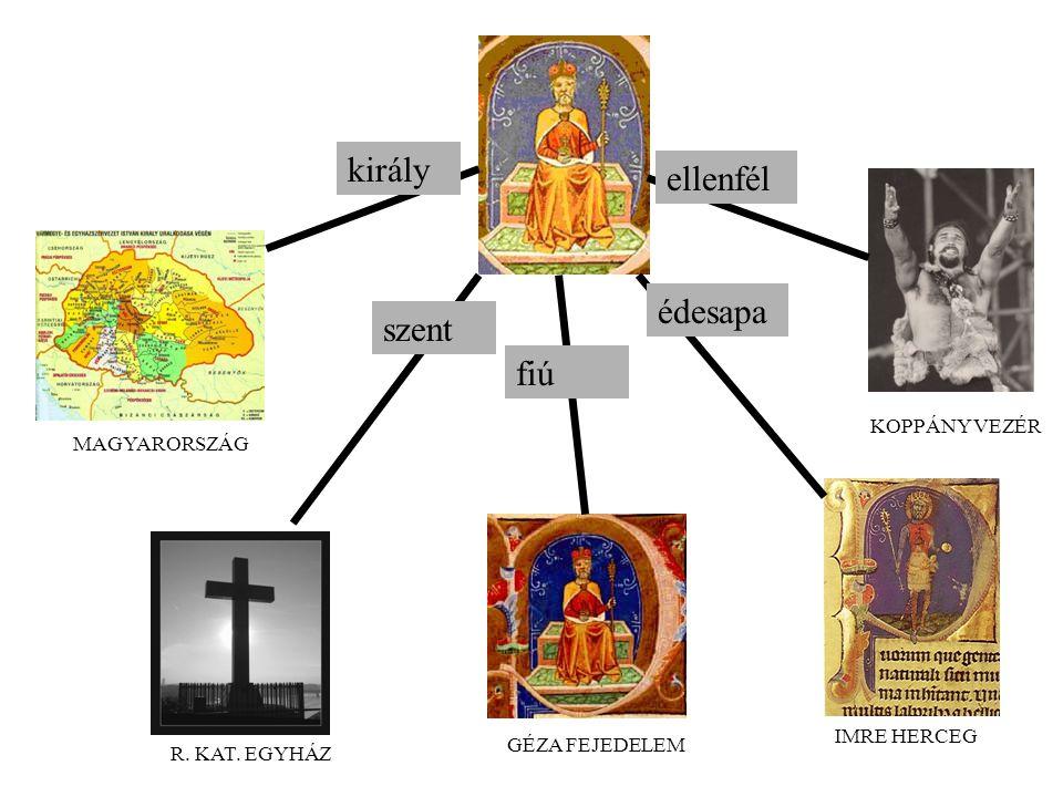 király ellenfél édesapa szent fiú KOPPÁNY VEZÉR MAGYARORSZÁG