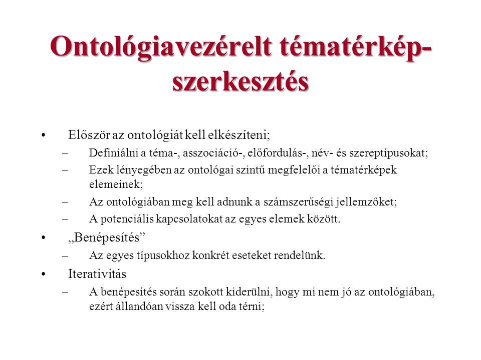 Ontológiavezérelt tématérkép-szerkesztés