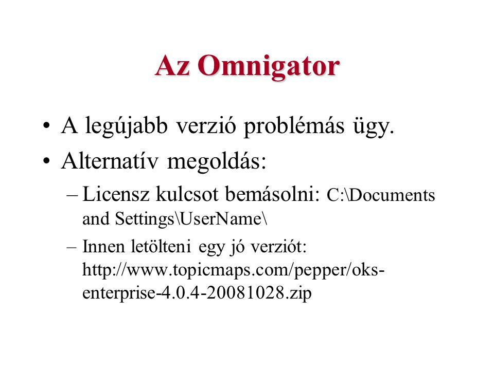 Az Omnigator A legújabb verzió problémás ügy. Alternatív megoldás: